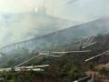 某村级光伏电站着火,电站被烧光只剩支架!