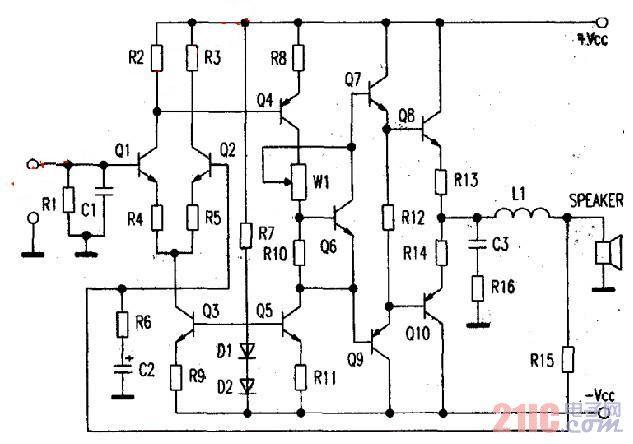 光伏ocl功放电路原理以及维修方法