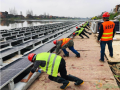 中国能建浙江火电总承包建设益阳北港长河光伏工程开始施工